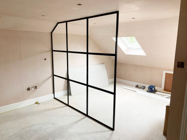 Domestic Project (Bexleyheath, Kent): Industrial Style Black Framed Room Divider