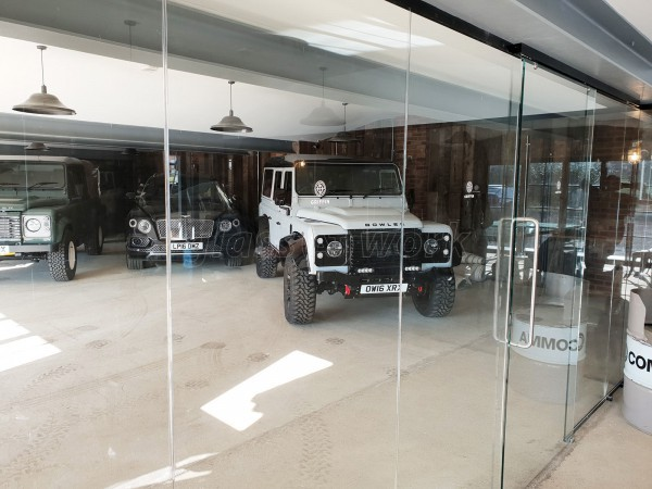 Armada Property Group Ltd (Essendon, Hertfordshire): Two Inline Partitions With Top Hung Sliding Doors And Land Rover Defenders!