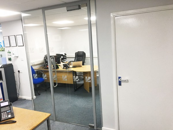 Daly Systems Ltd (Leicester, East Midlands): Faceted Glass Office Partition