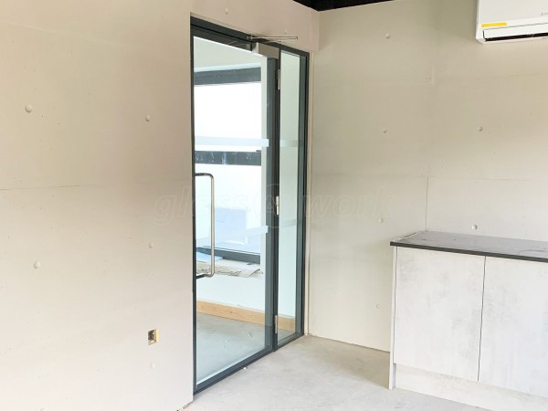 Lilleker Bros Ltd (Rotherham, South Yorkshire): Acoustic Glass Partition with Double Glazed Door Leaf