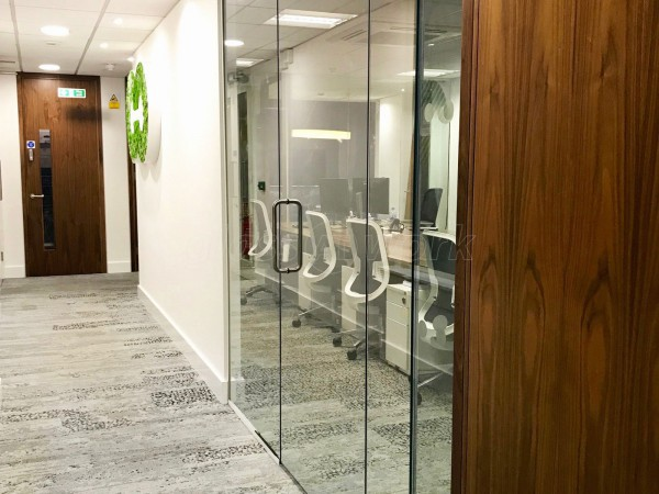Linear Investments Ltd (Westminster, London): Frameless Glass Partitioning Office Fitout