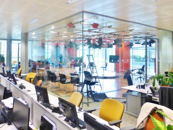 Chiswick Park Studios (Chiswick, London): Double Glazed Acoustic Glass Partitions