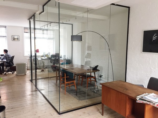 Bonafide Films (Camden, London): Acoustic Glass Wall and Door With Jet Black Frame