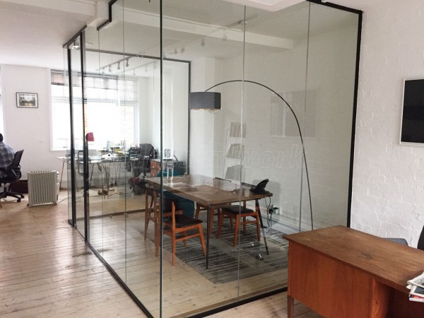 Bonafide Films (London): Acoustic Glass Wall and Door With Jet Black Frame