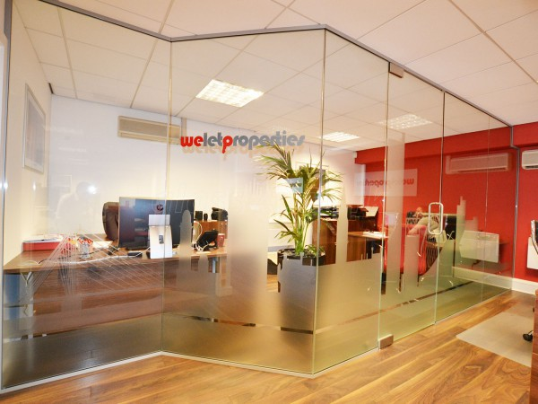 We Let Properties (Manchester): Glass Partition With Skyline Film Manifestation