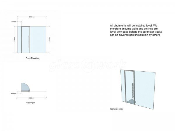 Blacks Visual Merchandising Ltd (Mayfair, London): Laminated Acoustic Glass With Framed Door [Basalt grey RAL 7012]