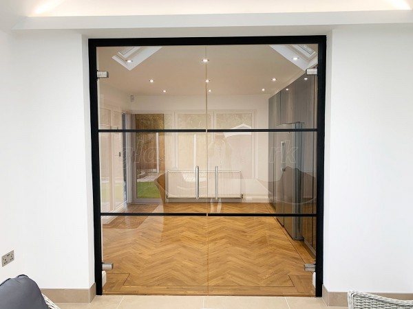 Residential Project (Bury, Greater Manchester): Glass Double Doors With An Industrial Style