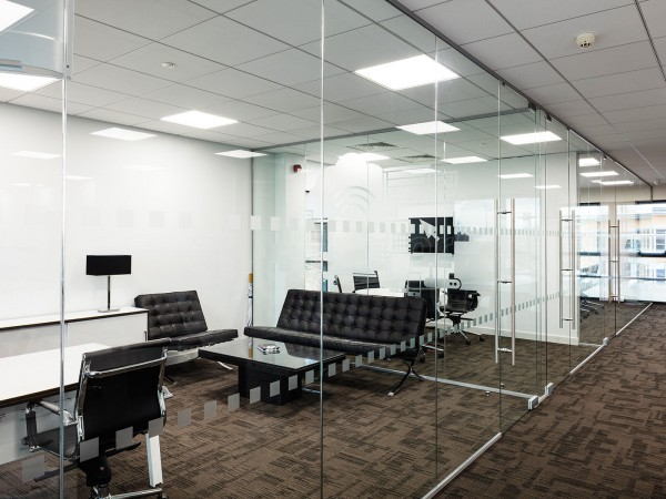Millgate Connect (Darnall, Sheffield): Mulitple Interior Glass Walls