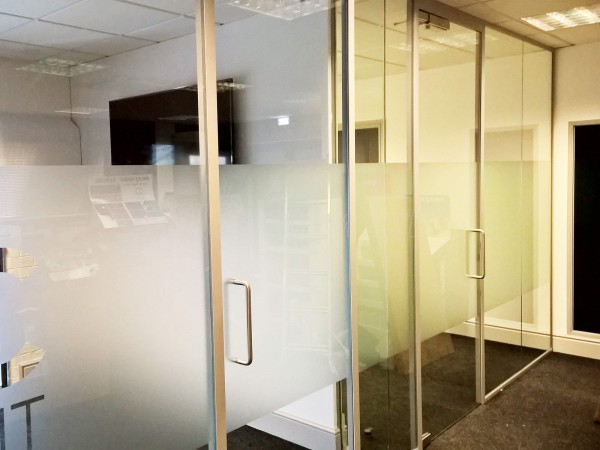 Mosaic Print Management (Long Marston, York): Acoustic Glass Office Partition