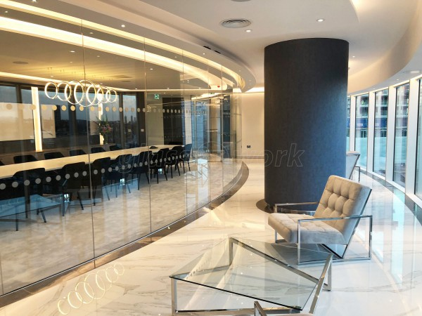 Spot This Space (Lambeth, London): Curved Glass Partitioning At Sky Gardens Nine Elms