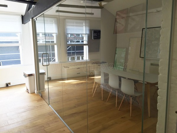 Socio Design (London): Office Glass Wall Under Tie Beam