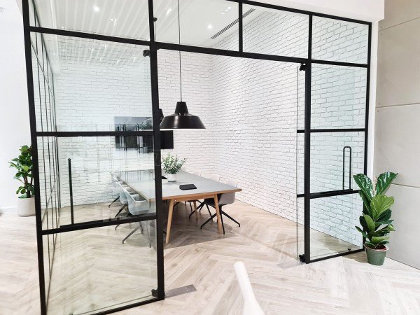 OTDS LTD (Redhill, Surrey): Warehouse-Look Industrial Glass Corner Room With Black Metal Frame
