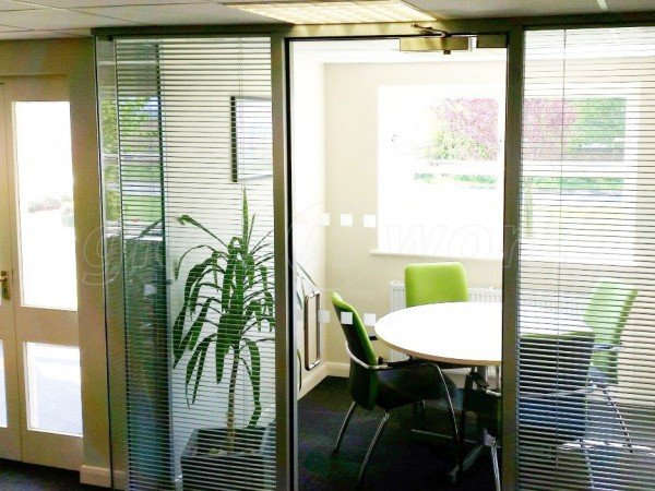 TH Clements & Son (Boston, Lincolnshire): Double Glazed Glass Partition With Blinds
