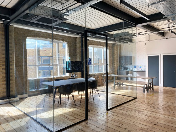 Payfit (Farringdon, London): Glazed Office Meeting Room Finished With Black Frame