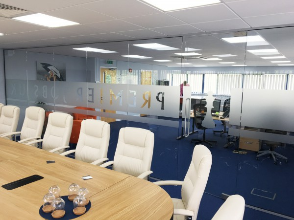 Premier Jobs UK Limited (Calne, Wiltshire): Glazed Office Partition Wall