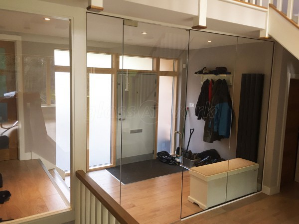Domestic Project (Stroud, Gloucestershire): Frameless Toughened Safety Glass Partition