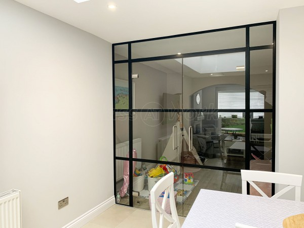 Residential Project (Leighton Buzzard, Bedfordshire): T-Bar Warehouse-Style Glass Double Doors For A Domestic Property