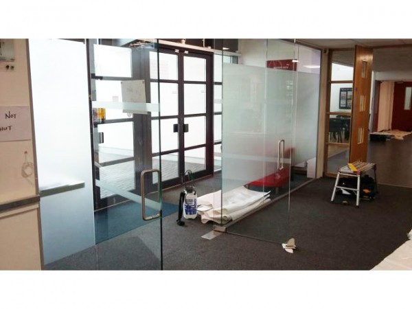 S & K Construction (Peacehaven, East Sussex): Glass Partition With Double Doors