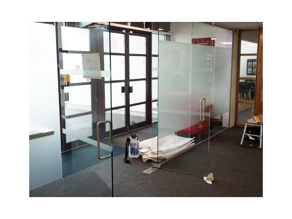 S & K Construction (East Sussex): Glass Partition With Double Doors