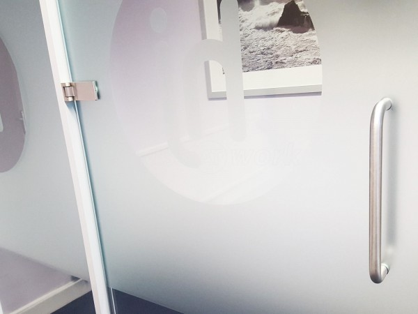 Hulljady Accountants (Bolton, Lancashire): Small Glass Office Screen and Framed Door