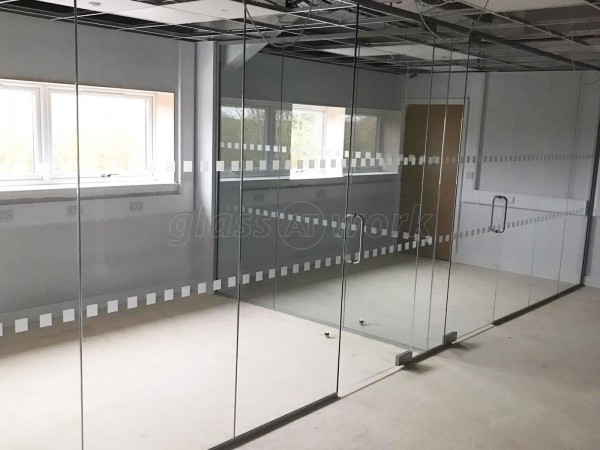Stirlin Developments (Lincoln, Lincolnshire): Multiple Glass Office Partition Installation