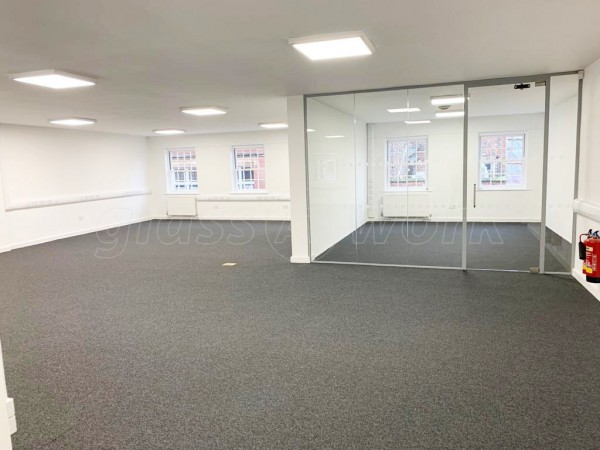 Stonegrave Properties Ltd (York, North Yorkshire): Small Glazed Office Divider With Glass Door