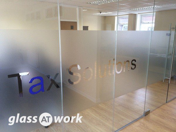 Tax Solutions Ltd (Darnall, Sheffield): Glass Office Partition