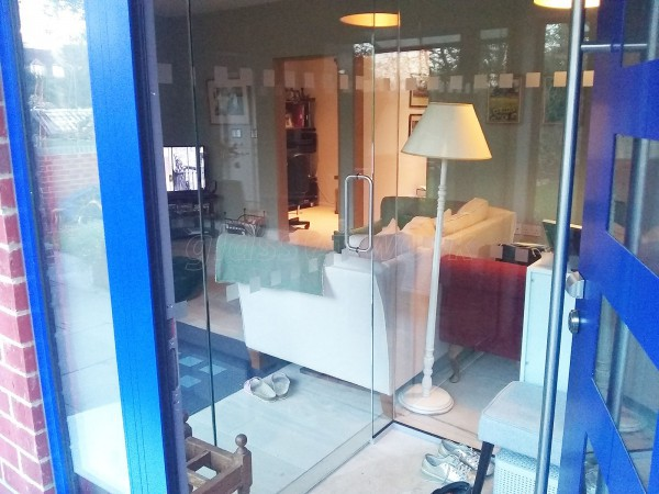 Residential Project (Sandford On Thames, Oxford): Frameless Toughened Glass Vestibule