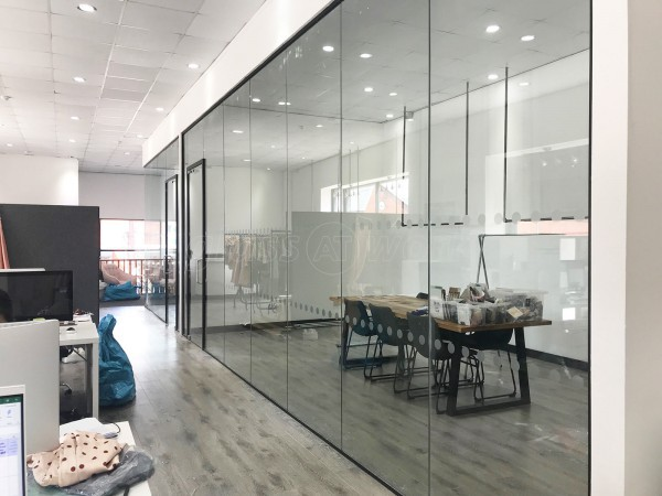 Trend Up (Cheetwood, Manchester): Toughened Glass Partition Rooms With Black Frame