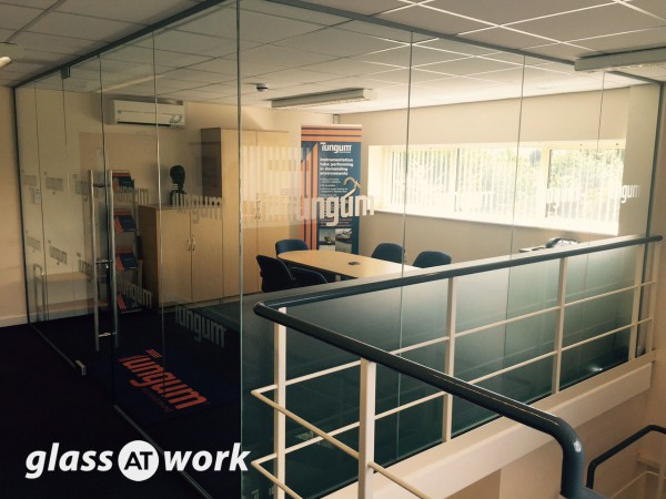 Tungum Ltd (Tewkesbury, Gloucestershire): Mezzanine Glass Office