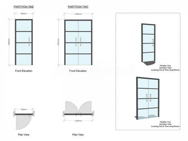 AB Design and Interiors (Southwark, London): Warehouse Glazing & Industrial Style Glass Doors
