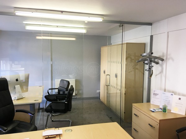 x2 Wealth Management Ltd (Ashbourne, Derbyshire): Frameless Glass Office Screens